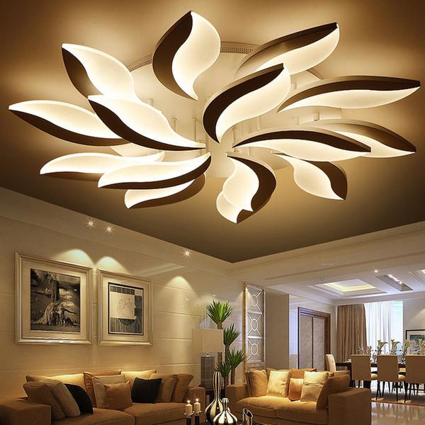 New Design acrílico moderna levaram luzes de teto Para Sala de Estudo Quarto lampe plafond avize teto Indoor Lamp Pendant Lamps