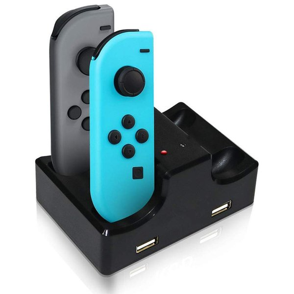 Hot sale LED Charging Dock Station Charger Cradle For Nintend Switch Joy Con Controllers Charging Stand For Nintend Switch free shipping