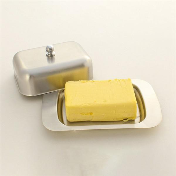 Контейнер для хранения блюдо из нержавеющей стали Элегантный сыр Хранитель сервера хранения Поднос с легко держать