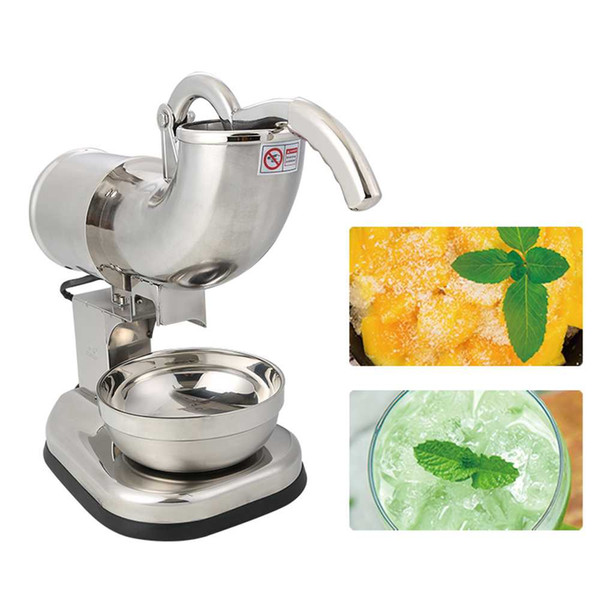 Stainless Steel Ice Crushing Grinder Machine Ice Block Crusher Electric Maker Blender Machine For Coffee Bar Shop