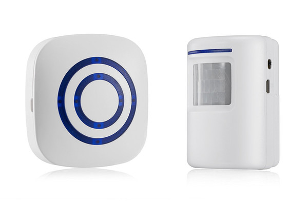 the cheapest Wireless Driveway Alert, Home Security Driveway Alarm, Visitor Door Bell Chime with 1 Plug-in Receiver and 1 PIR Motion Sensor