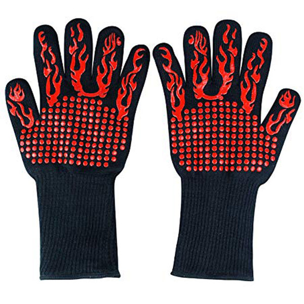 professional Extreme Heat Resistant Glove Outdoor Cooking Kitchen Barbecue Oven Gloves BBQ Grill Long For Extra Forearm Protection BBQ Tools