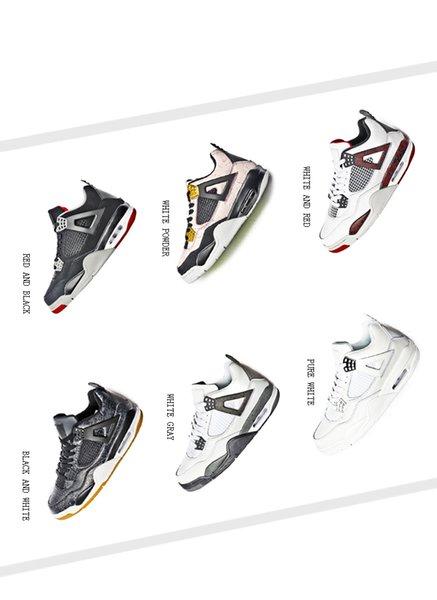 2019 4 Белый Цемент Чистые Деньги Джек Торо Браво Баскетбол Обувь Мужчины Женщины 4S