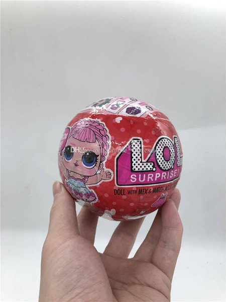 10cm series 3 Red Can light glitter Limited edition doll New Dolls Girls' Egg Toys detachable kid toy.