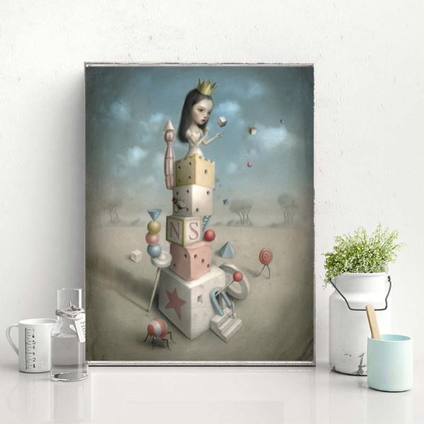 Compre Hermosas Pesadillas Nicoletta Ceccoli Lienzo De Arte Pintura Cuadro De La Pared Cartel E Impresión Decorativa Para La Sala De Estar Decoración