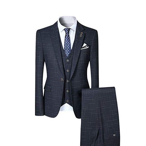 2018 new 3 Pieces One Button grey coat pant design изображения классические мужские свадебные костюмы смокинги пользовательские мужские костюмы (куртка+брюки+жилет)