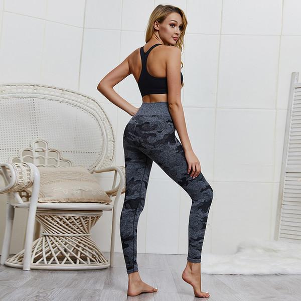 LT079020 Yeni 2019 Pro Örgü Kamuflaj Soğutma Streç Yoga Pantolon Kadın Spor Tayt Yüksek Bel Sıkı Fit Kuru Pantolon