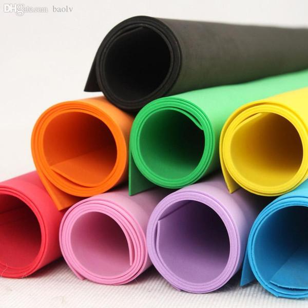 -Multicolor al por mayor de 60 * 60 cm de 2 mm de espuma EVA, hoja de papel hecho a mano Esponja Materiales de artesanía bricolaje