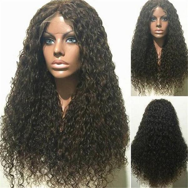 Lange tiefe Welle Lace Front Perücke / volle Spitze Echthaar Perücken 8A gute Qualität brasilianisches Haar Perücken für schwarze Frauen mit dem Babyhaar