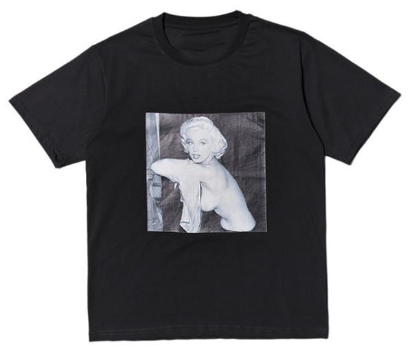 2019 Summer skateboard Mens women Crewneck Marilyn Monroe Print short-sleeved T-shirt Letter Palaces Casual T shirt Tee Tops