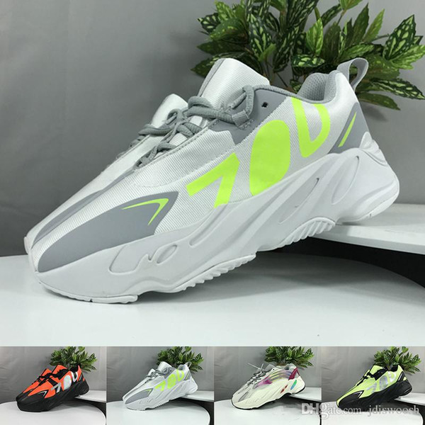 2019 Wave Runner 700 V2 Mens Running Shoes Kanye West 700s Mauve Inertia Geode Womens Designer Sport Sneakers Trainers Shoes Size Us 5-11.5