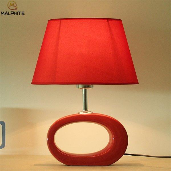 Modern Ceramics Table Light for Bedroom Bedside Lamp Table Living Room Lamp Dimmable Restaurant Luminaires LED Lighting