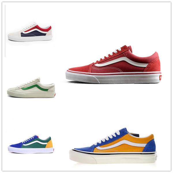 Sapatos da moda Unisex Casa fora Das Mulheres Dos Homens sapatilhas preto branco Verde para o projeto skate Esportes Clássico Velho skool causal shoe36-44 D0099736624
