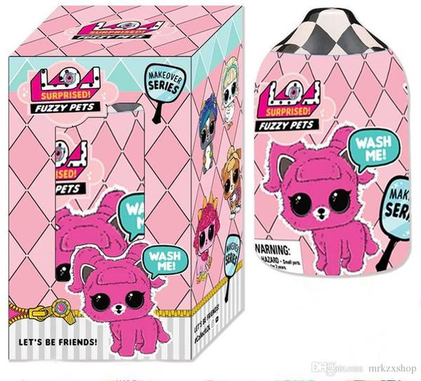 5.1inch pet Series Boneca Egg Egg Action Figure Toy Shampoo pacote de garrafas de casal como um banho, bolsa e playset Caçoa o Presente. TMOO2