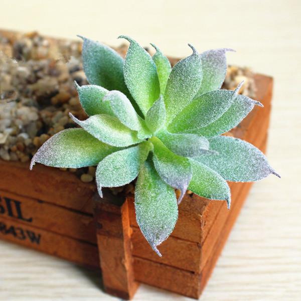 Garden Artificial Succulent Plant Cactus Echeveria Flower Home Ornements