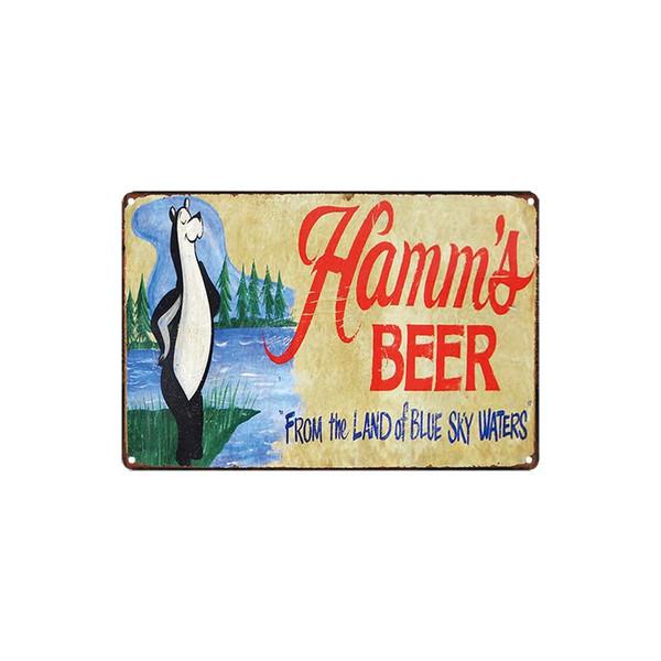 classic vintage Hamm's BEER coois light Budweiser SAMUEL ADAMS FARM FRESH EGGS sale tin sign Coffee Shop Bar Wall decor Bar Metal Paintings