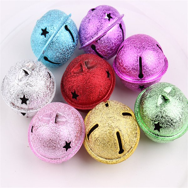 New Metal Mixed Colors 4cm Christmas Bells Small Jewelry Wrinkle Snowflake Bells Christmas Decoration Ornament Jingle Bells