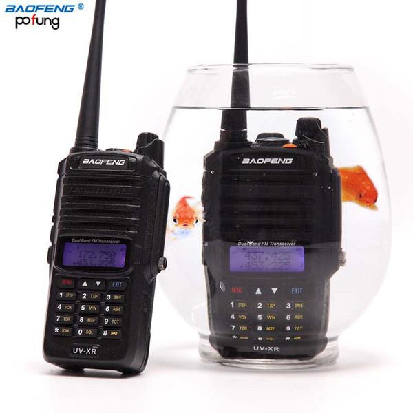 Baofeng UV-XR Wasserdichtes Walkie Talkie 10 Watt Leistungsstarke 10 Watt CB Schinkenradio tragbare Handheld 10 km lange Reichweite Zwei-Wege-Funkfischerei