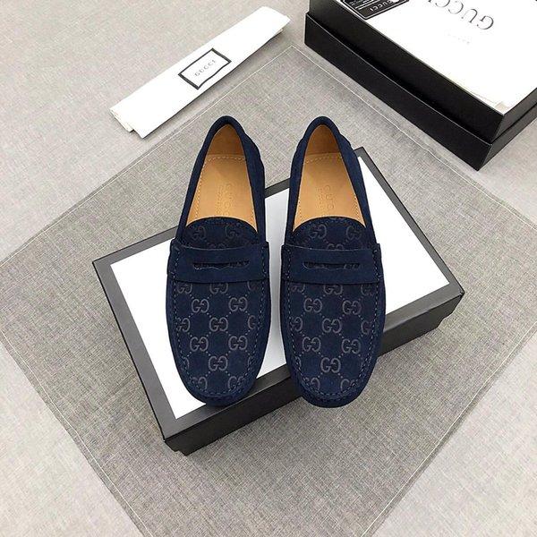 Mann Kleid Schuhe Frühling Herbst Männer Sozial Schuhe Schwarz BLAU Herren Hochzeit Schuhe Gummi Bottom Suit Schuhe Slip-On Männliche Schuhe