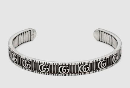 Moda de lujo retro plata esterlina 925 Hombres Pulsera gg brazalete para mujer delicada marca de diseñador joyería color plata regalo de San Valentín