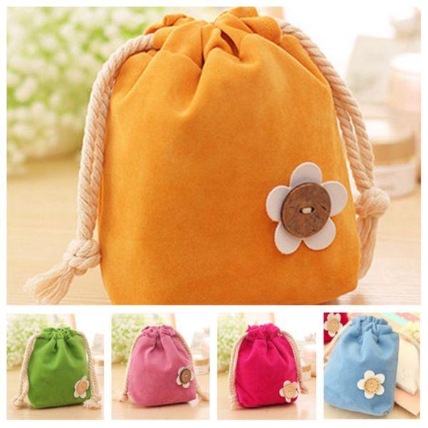 Cadılar bayramı Şeker paketleme çantası küçük buket cep çekme anahtar çanta değişim takı kılıfı ağız şeker renk İpli çanta Çantalar T2D5040