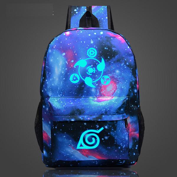 Naruto Luminous Rucksäcke Hokage School Travel Laptoptasche für Jugendliche Japanese Anime Canvas Rucksack Bolsas Mochila Escolar
