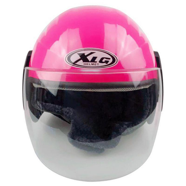 Electric Motorcycle Helmet Retro Style Street Bike Scooter Helmet With Clear Lens Shield Unisex