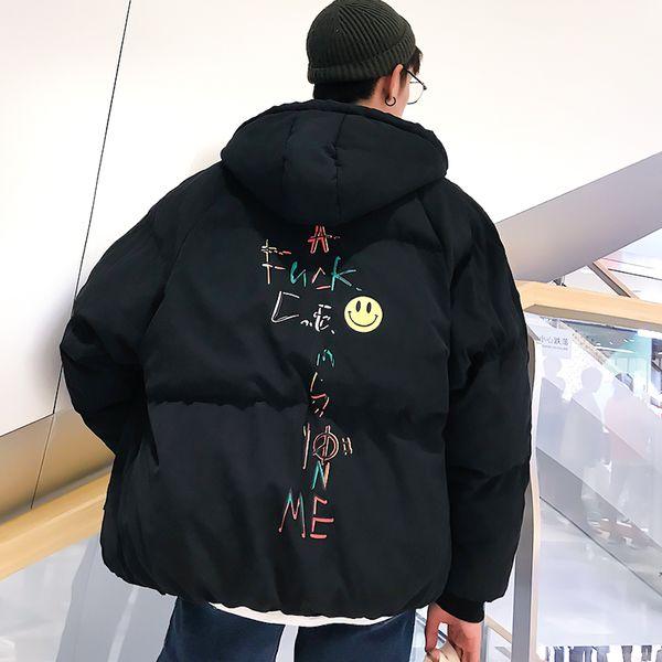 Großhandel Winterjacke Männer 2019 Mode Mit Kapuze Männlichen Parka Jacke Herren Solid Black Dicke Jacken Und Mäntel Mann Winter Parkas Von Xiayuhe,