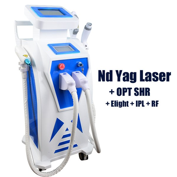 2019 New Innovation IPL laser hair removal system best price IPL skin rejuvenation 4 in 1 SHR Elight ND YAG laser multifunctional machine