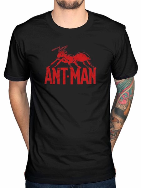 Официальный комикс Marvel Ant-Man логотип футболка халк тор капитан америка железный человек мужчины женщины унисекс мода футболка бесплатная доставка черный