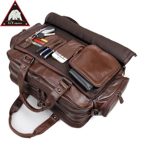 7b2b6c186 ANAPH Maletines de cuero de grano completo para hombres, bolsa de viaje  grande para negocios