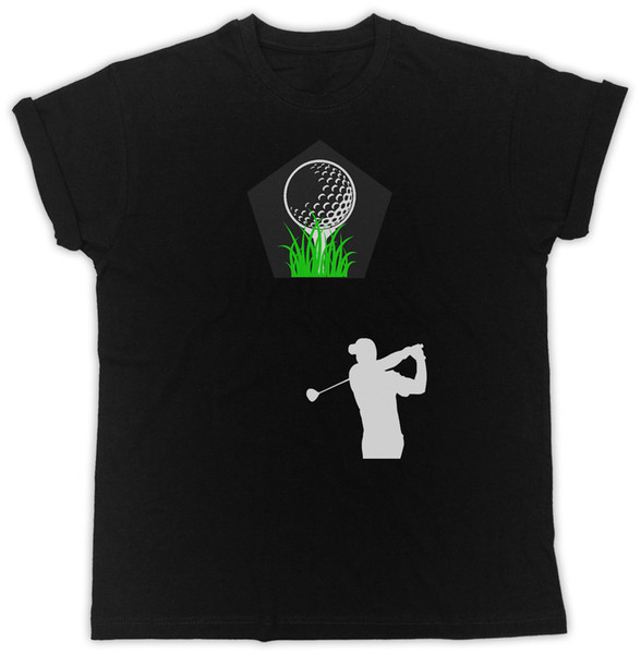 GOLF POSTER SLOGAN COOL IDEAL GIFT UNISEX BLACK T-SHIRT white black grey red trousers tshirt