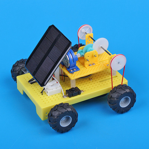 Solar Toy Car Children's Educational Science Experiments on Small Plastics Making by Hand Technology