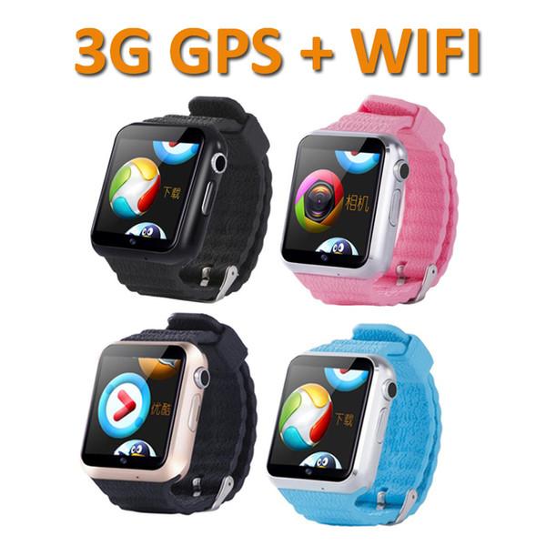 V7W Kids Smart Watch 3G Wifi IP67 Waterproof Children baby GPS Swim phone SOS Call Location Device Tracker Kids Safe Anti-Lost Monitor