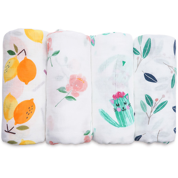 Baby Blanket Super Soft Bamboo Cotton Muslin Baby Swaddle Wrap Infant Nursing Cover Bath Towel For Baby Kids