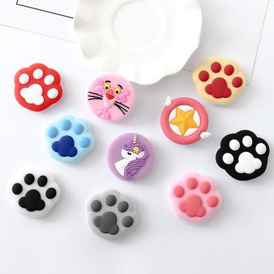 Sockel Universal Cat Klaue Handy Stretch Halterung Cartoon Air Phone Erweiterung Telefon Stand Finger Auto Halter