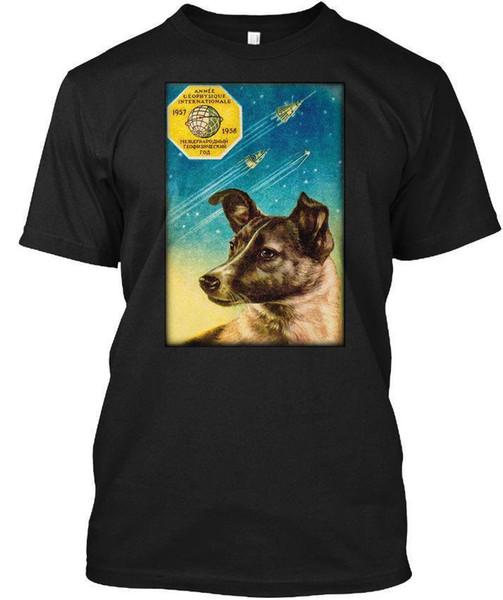 Laika Le chien de l'espace russe Spoutnik 2! T-shirt sans étiquette de Hanes
