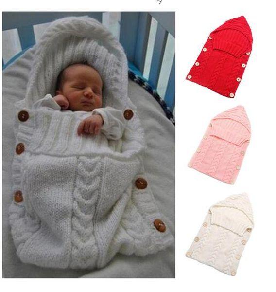 Bebek Battaniye Yenidoğan Toddler Battaniye El Yapımı Bebek Bebekler Uyku Tulumu Örgü Kostüm Tığ Bebek Örme Uyku Tulumları Uyku Çuval Düğmesi