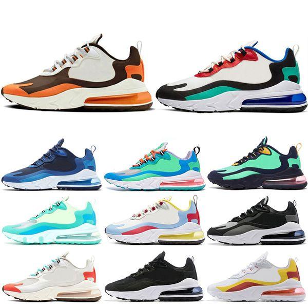 Nike air react 270 ayakkabıları sneaker ultra ayakkabı 3.0 4.0 Üçlü Siyah beyaz CNY oreo Primeknit kadın sneaker adam tasarımcı spor çorap ...
