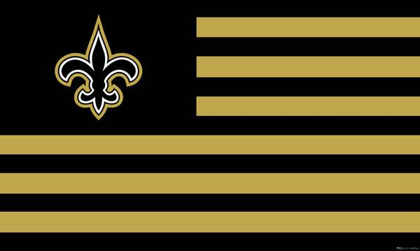 150 cm * 90 cm Bandera de la bandera de los Santos de Nueva Orleans 3 * 5FT Poliéster Personalizado Decorativo Colgante de la bandera del hogar para la decoración