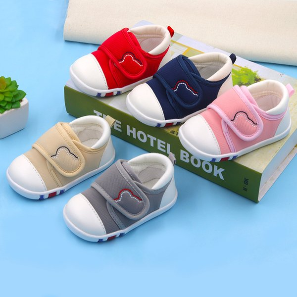 Spring Newest Baby First Walkers Shoes Breathable Autumn Canvas Boys Girls Infant Soft Sole Anti-slippery Warm Toddler Shoes