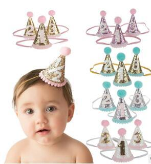 New Kids Hair Jewelry Creative Popular Birthday Party Hat Baby Hair Belt Photography Props Princess Headwear WL175