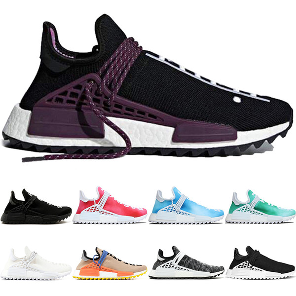 Human Race trail Running Shoes Men Women Pharrell Williams HU Runner Peace Passion Younth China Limited Casual Sport Sneaker Size 36-47