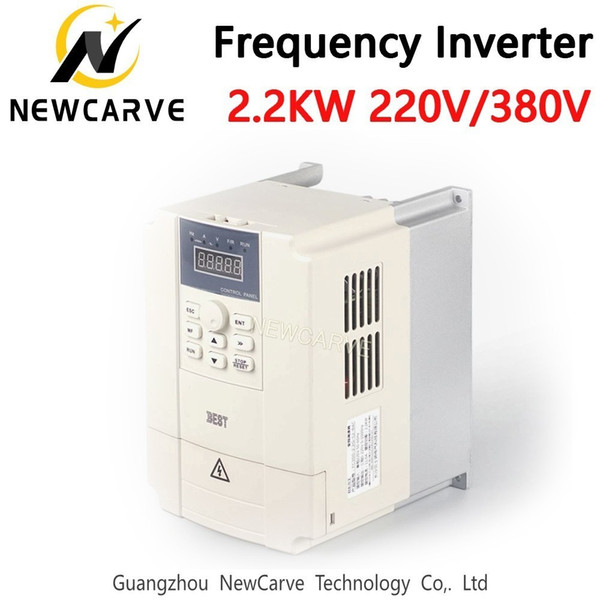2.2KW Değişken Frekans Sürücü VFD Invertör 220 V 380 V CNC Mili Motor Hız Kontrolü Için Newcarve