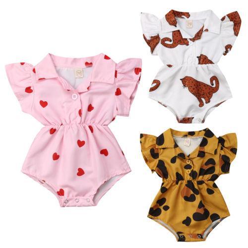 Fashion Newborn Infant Baby Girl Flower Blouse Romper Jumpsuit Outfits Sunsuit for Infant Children Clothes Kid
