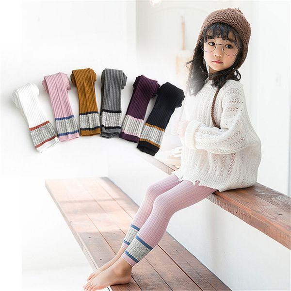 13 Colors Girls Pantyhose Cotton Patchwork Color 1-8t Girls Elastic Leggings Socks Kids Designer Clothes Girls Leggings DHL FJ203