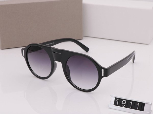 LUXURY MODEL 1911 Fashion Men Women Sunglasses Ladies Oversized Square Frame Sunglasses black colorglasses Luxury with original box and case