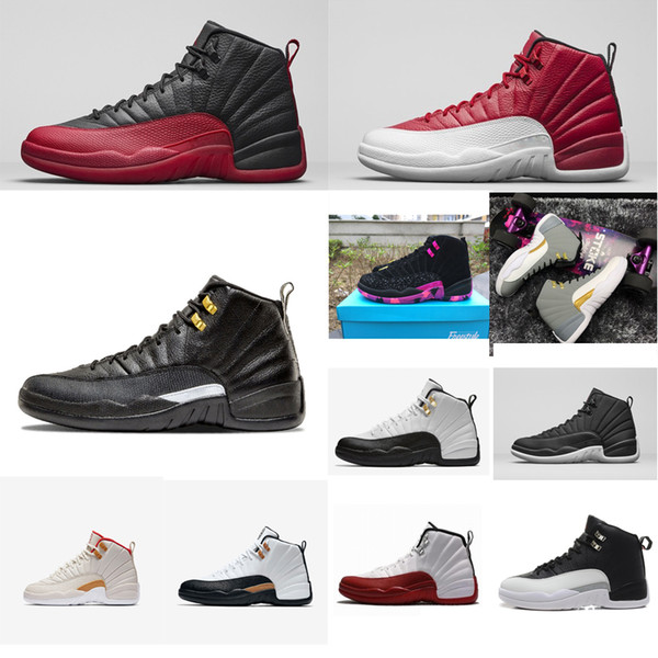 Cheap Mens Jumpman 12s basketball shoes retro Red Nylon Black Master Bred Taxi Gold Grey CNY air flights aj sneakers boots tennis for sale