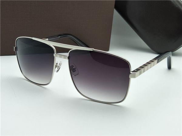 Wholesale-Mens ATTITUDE PILOTE Sonnenbrille Silver Grey Classic Sonnenbrille Eye Wear Attitude nagelneu mit Originaletui
