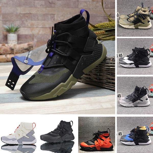 Erkekler Tasarımcı Boots 2019 Huarache Gripp QS Yelken Açık Yüksek Günlük Spor Ayakkabı Huaraches Takım Turuncu Oreo Haki Erkek Eğitmenler Spor ayakkabılar